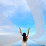 Secrets Akumal Destination Wedding bride with veil