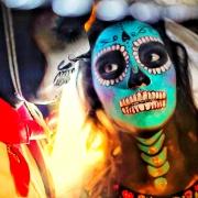 Catrin and Catrina bride and groom calavera Day of the dead Guanajuato