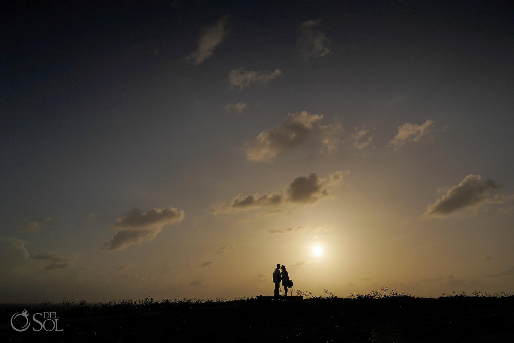 sunset isla mujeres punta sur Mayan Ruins Proposal