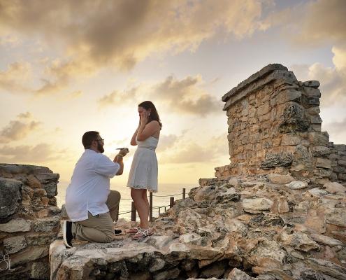Mayan ruins proposal Isla Mujeres punta Sur