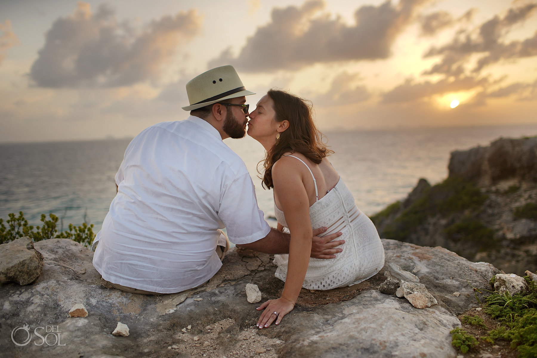 Sunset on Isla Mujeres Mayan Ruins Proposal