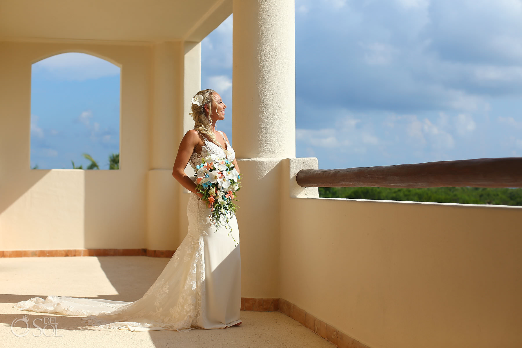 Secrets Maroma Wedding bride portraits
