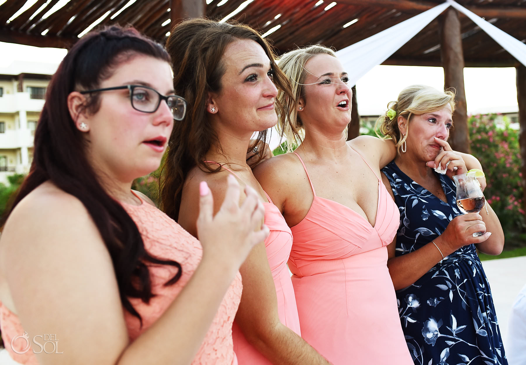 emotional bridal party photos