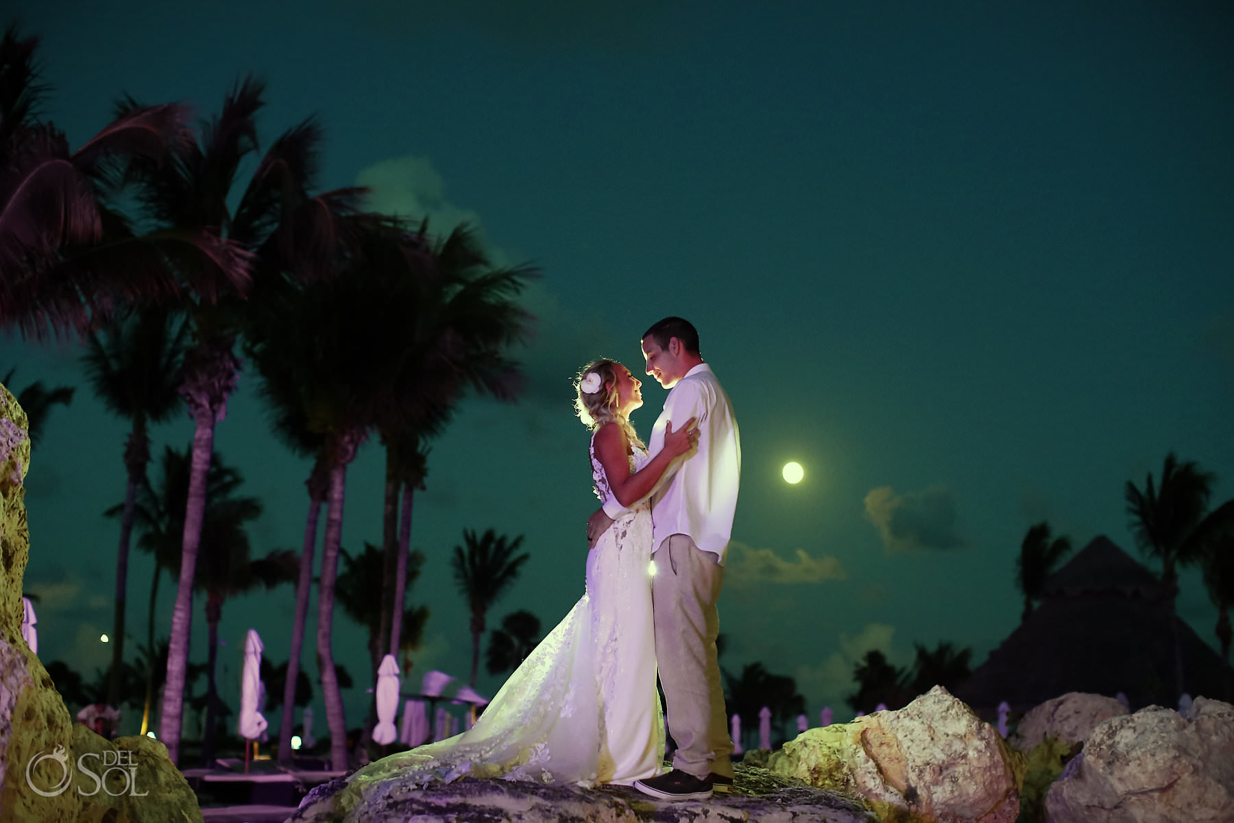 Secrets Maroma Wedding nigh portraits