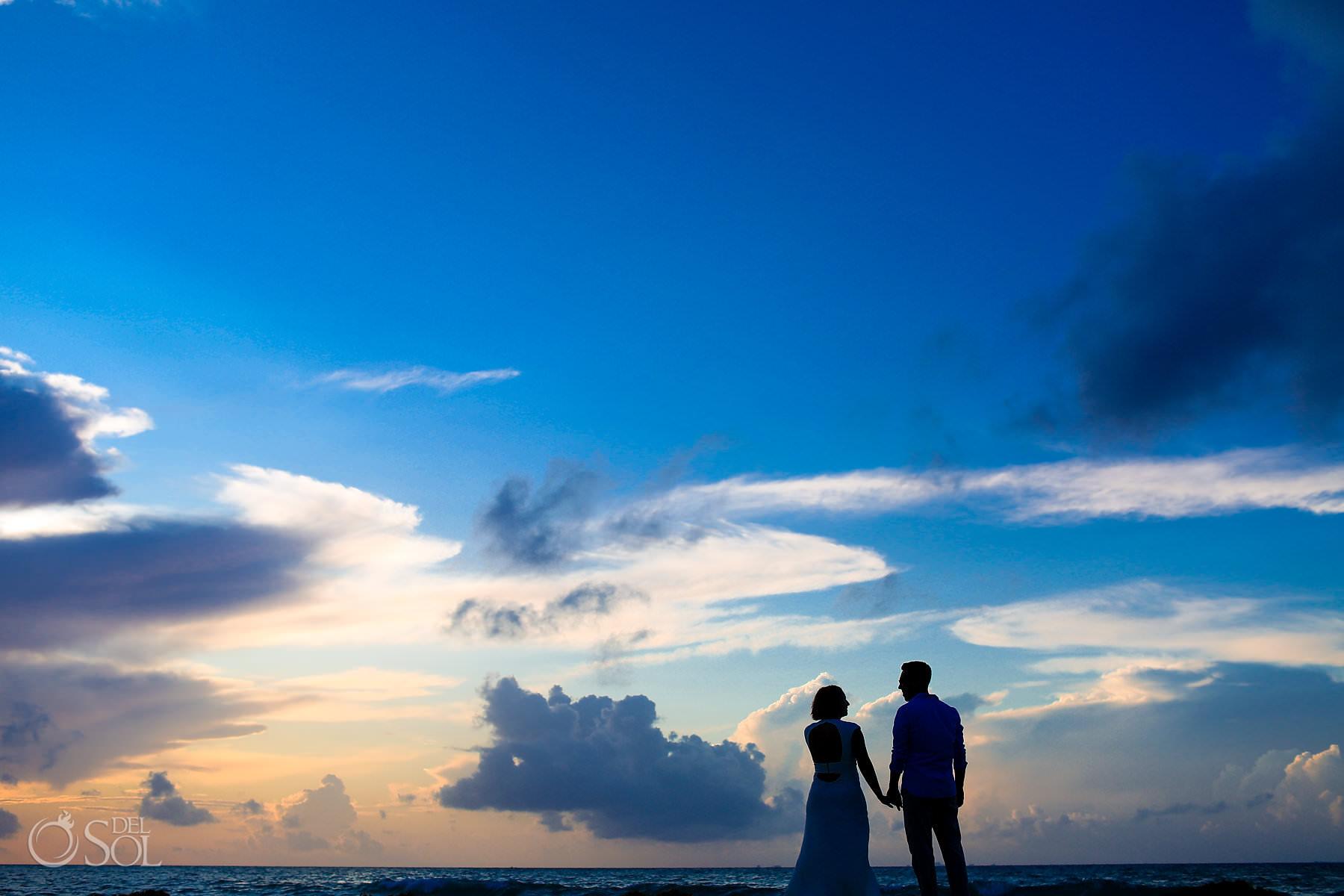 Riviera Maya Engagement Photography at sunrise