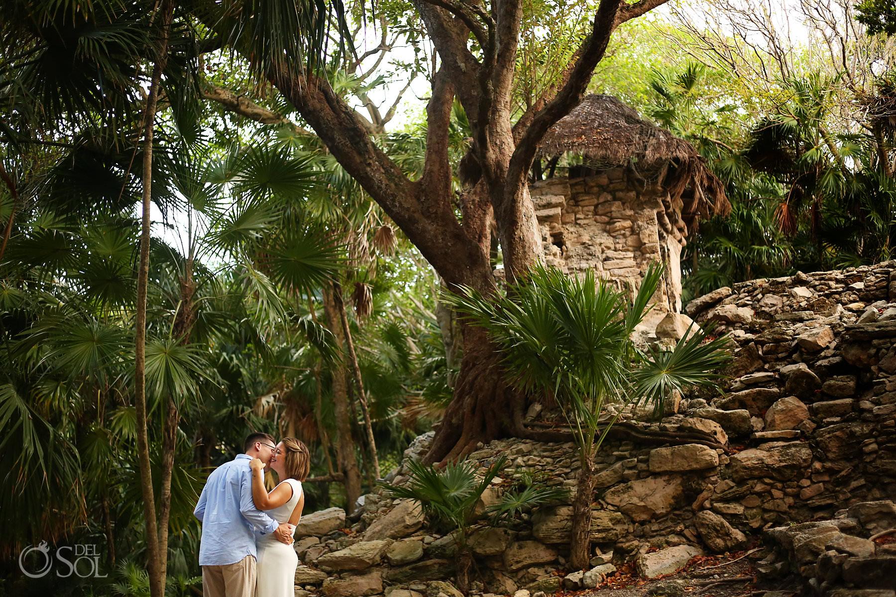 Riviera Maya Engagement Photos at Mayan Ruins Playa del Carmen