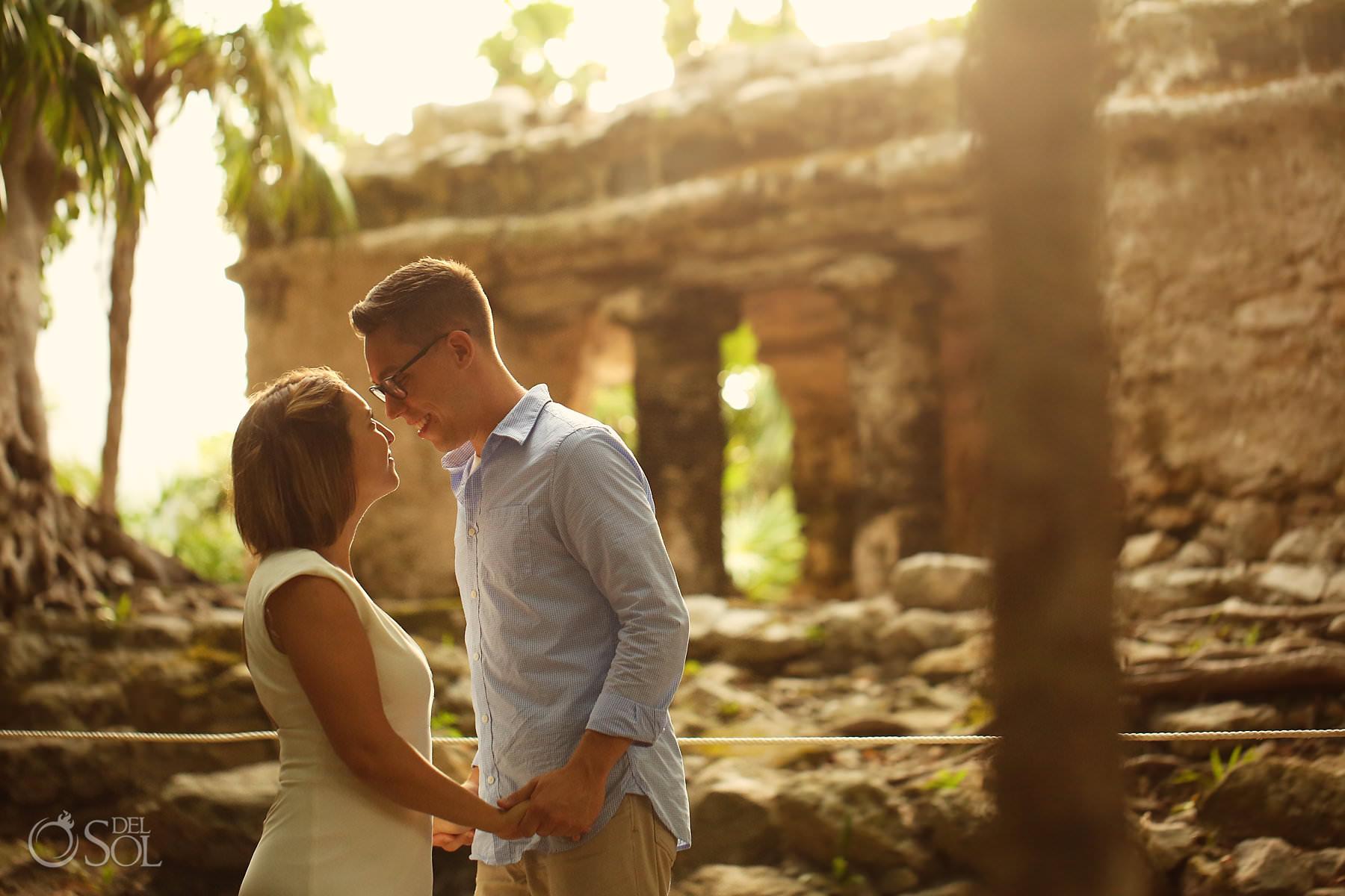 riviera mayan ruins couple portraits
