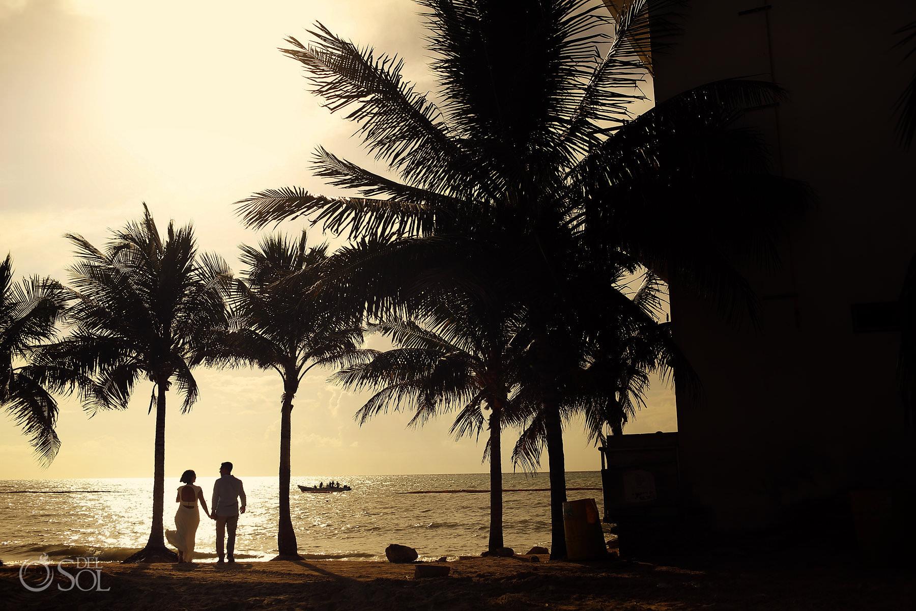 sunrise couple portraits engagement photography riviera maya