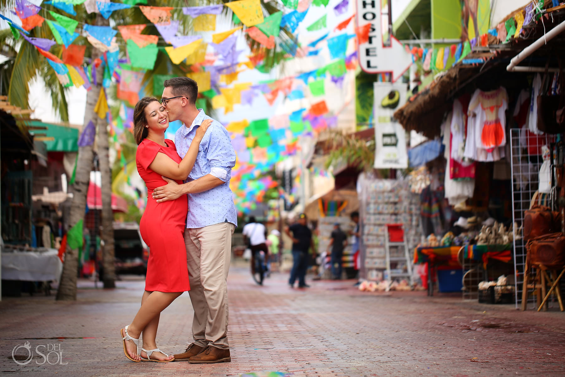 Engagement Photography 5th avenue playa del carmen