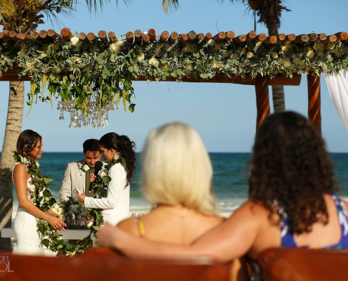 Mexico Same Sex Wedding beach ceremony at Secrets Maroma Beach Riviera Cancun