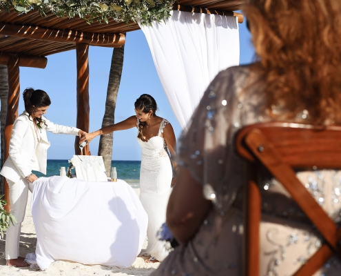Same Sex Sand Ceremony Secrets Maroma LGBT wedding