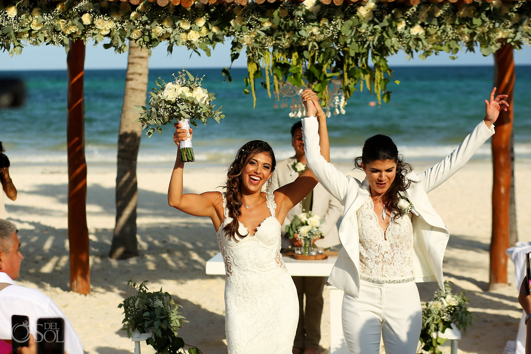 LGBT couple married at Mexico Same Sex Wedding Secrets Maroma Beach Riviera Cancun