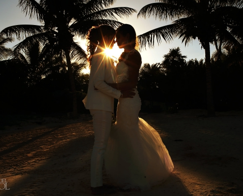 LGBT couple married in Mexico Same Sex Wedding Secrets Maroma Beach Riviera Cancun