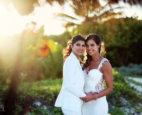 Same Sex Bridal portrait Secrets Maroma wedding photographer