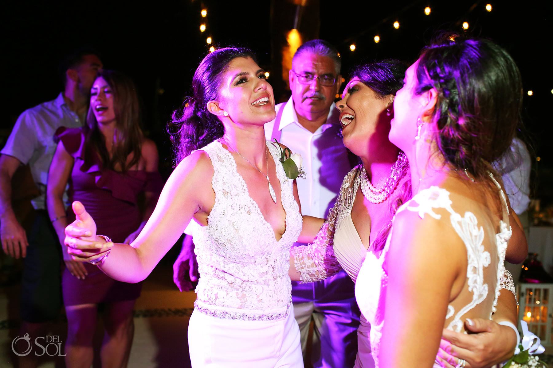 Mexico Same Sex Wedding reception fun dance Secrets Maroma Beach Riviera Cancun