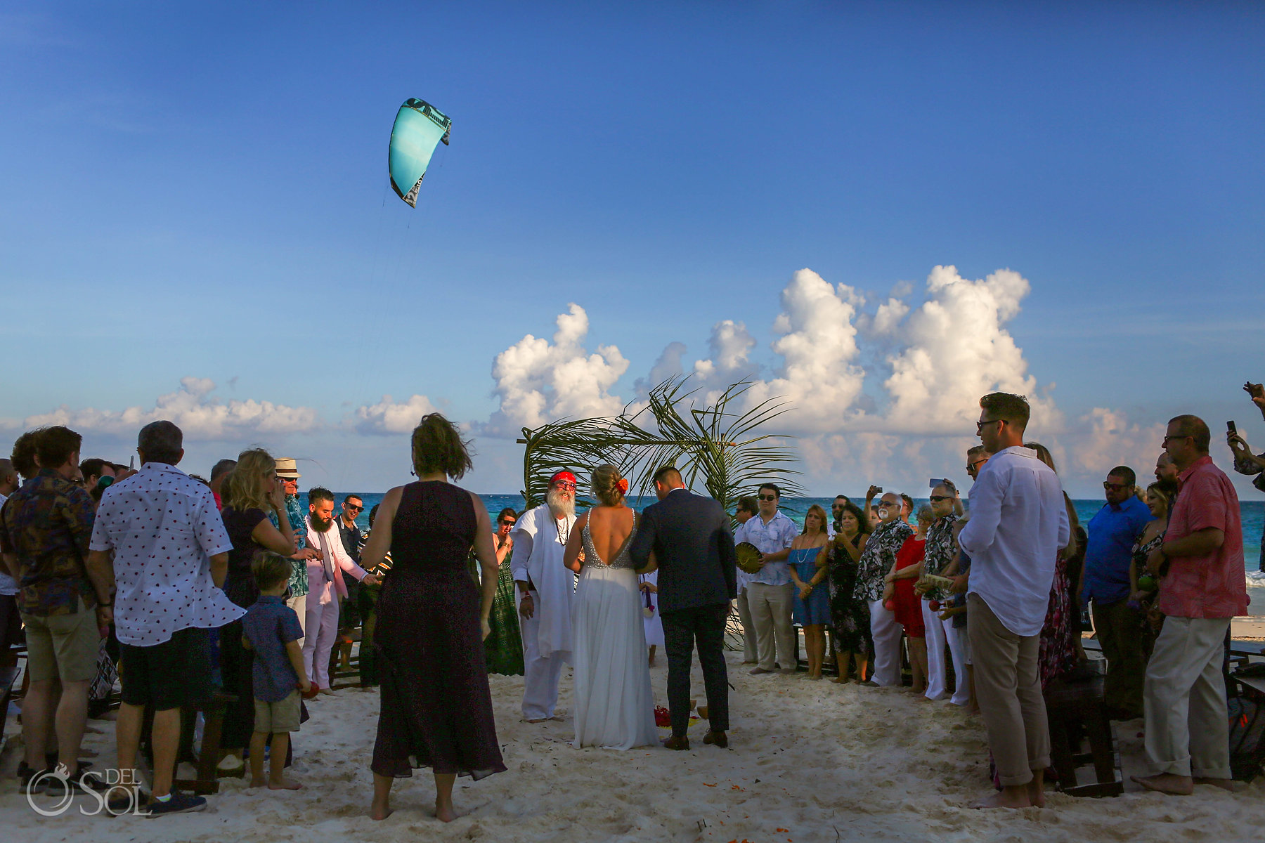 Mayan wedding Tulum Mexico Akiin Beach Club
