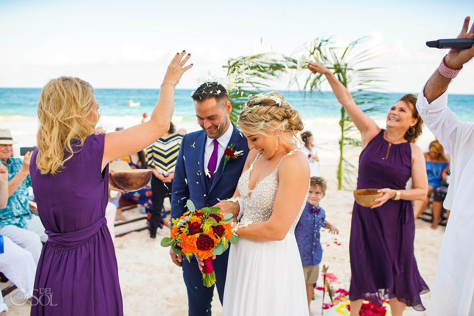 cosmic wedding ceremony Akiin Tulum Mexico