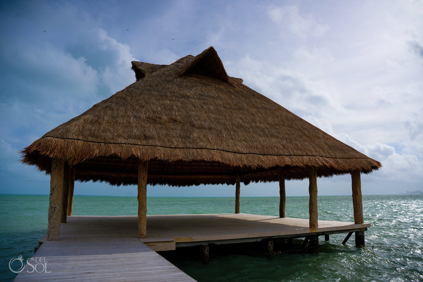 Ocean Deck Palapa Wedding Venue Title Dreams Vista Weddings Riviera Cancun Mexico