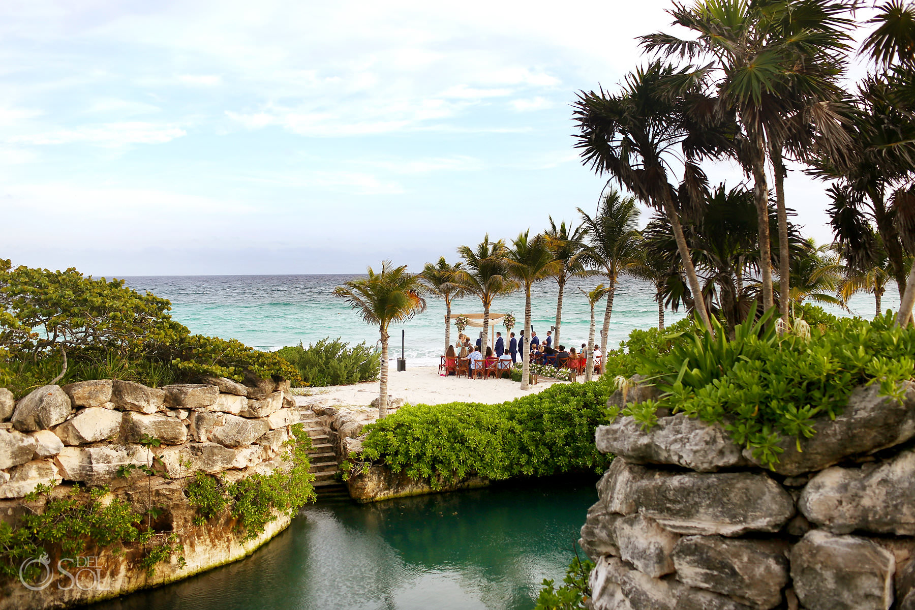Best private beach wedding location Playa UK Hotel Xcaret Playa del Carmen Mexico
