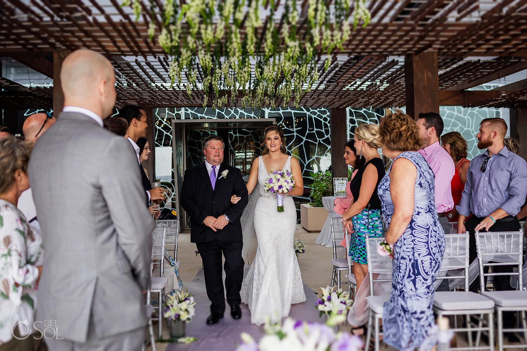 bride entrance Secrets the Vine Terrace Cancun Mexico