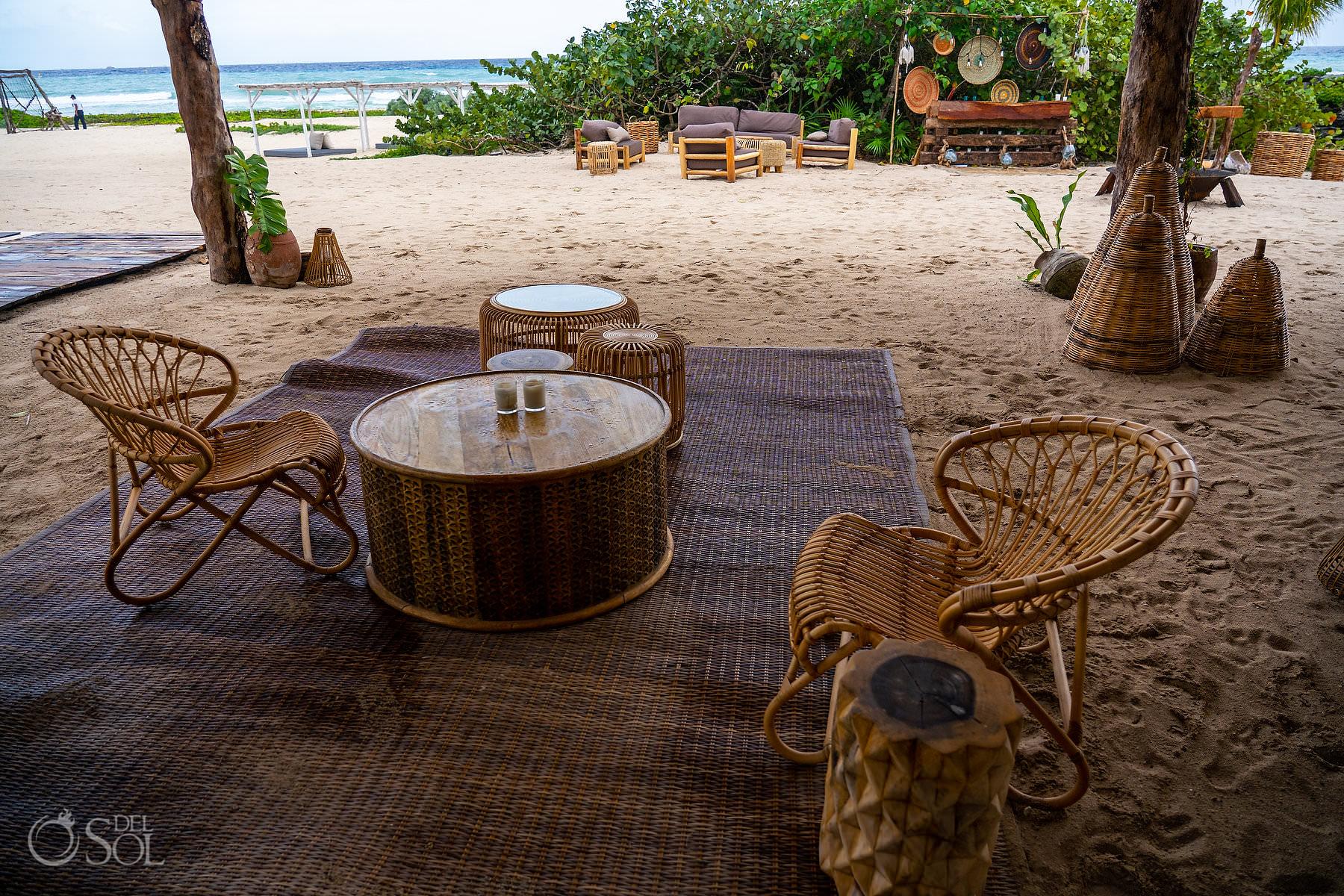 Tulum style beach bar Palmaia House of Aia