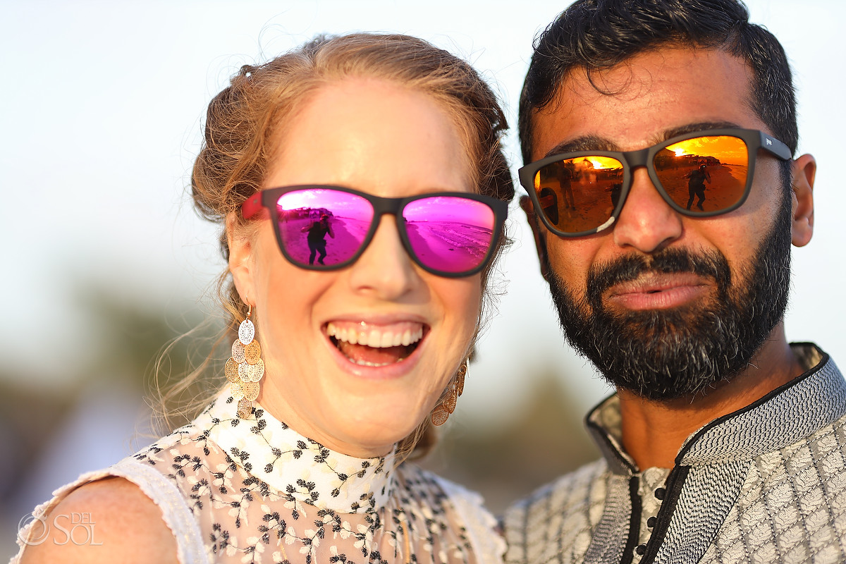 bride and groom Goodr sunglasses now jade patio deck wedding