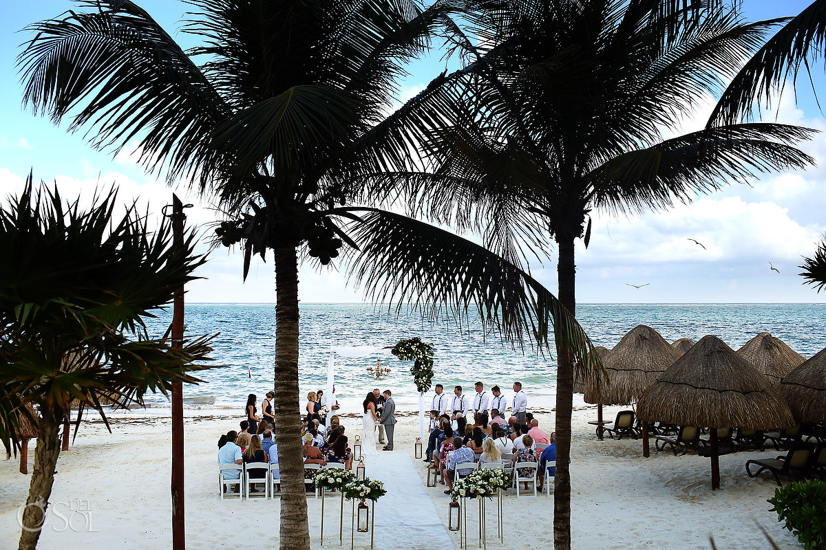 Dreams Riviera Cancun Beach Wedding setup