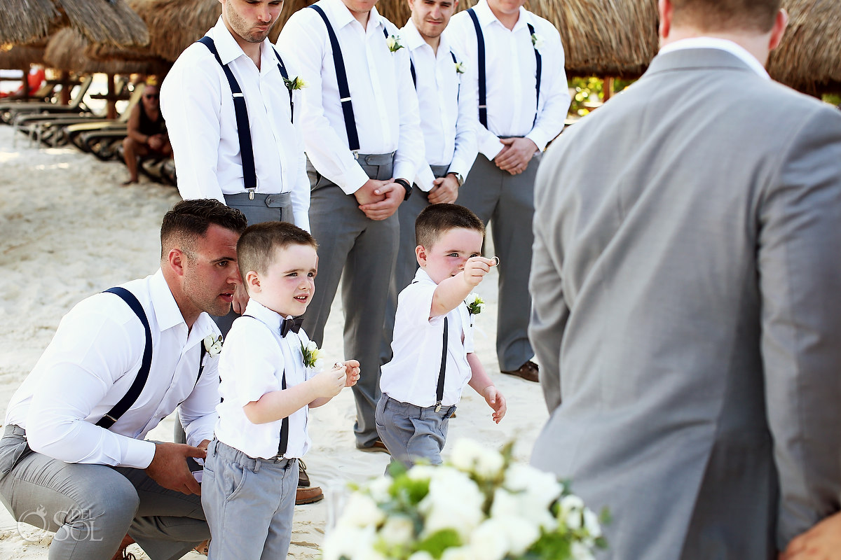 including your children in your wedding grooms sons ringbearers