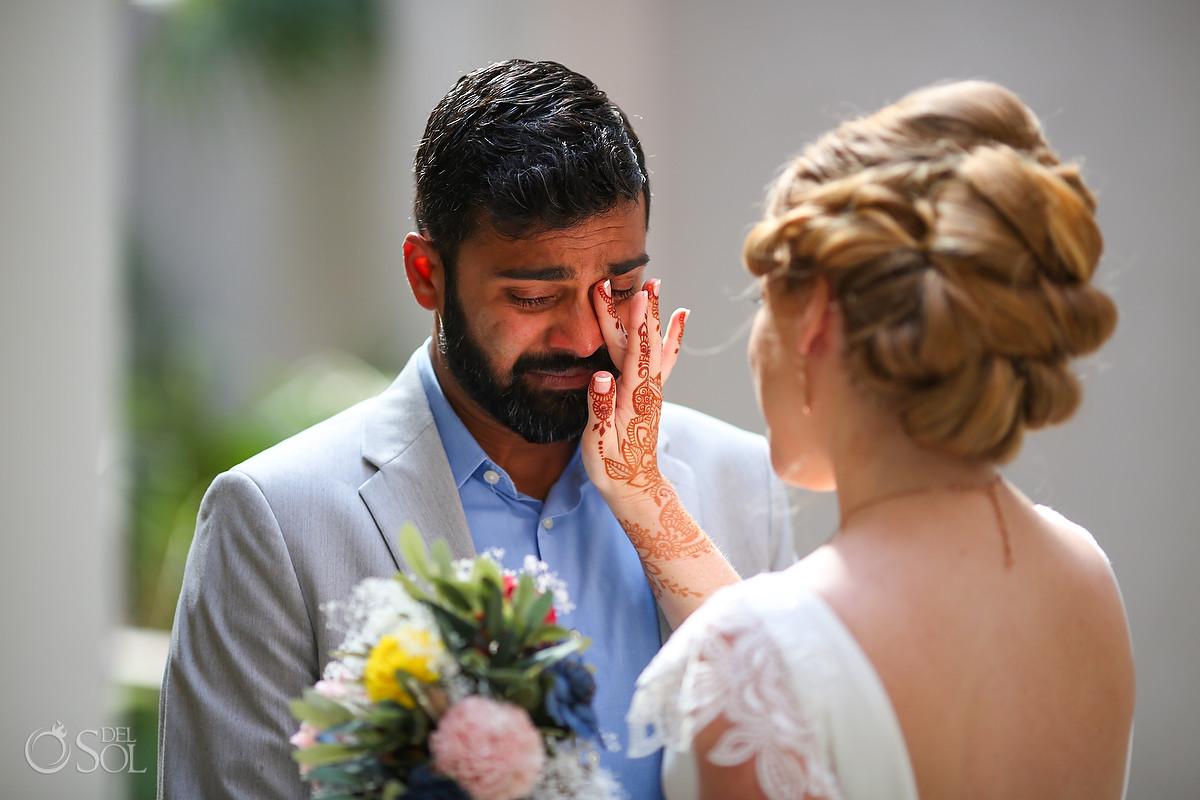 first Look now jade wedding