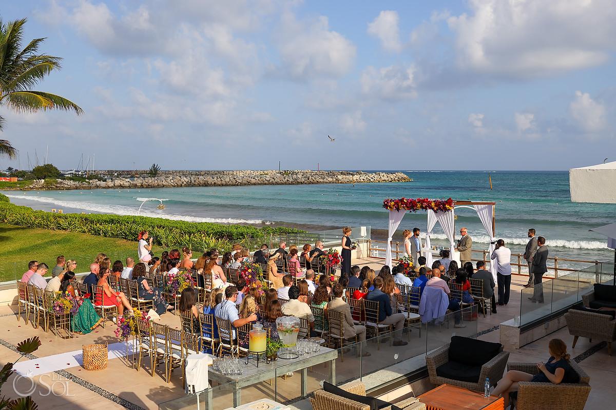 Patio Deck Now Jade Wedding, Puerto Morelos, Photos by Del Sol Photography