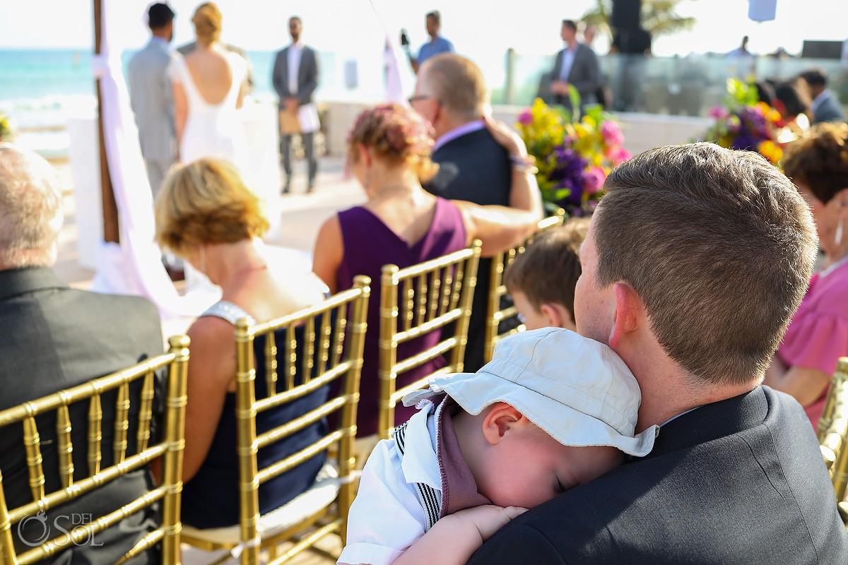 Patio Deck Now Jade Wedding with child