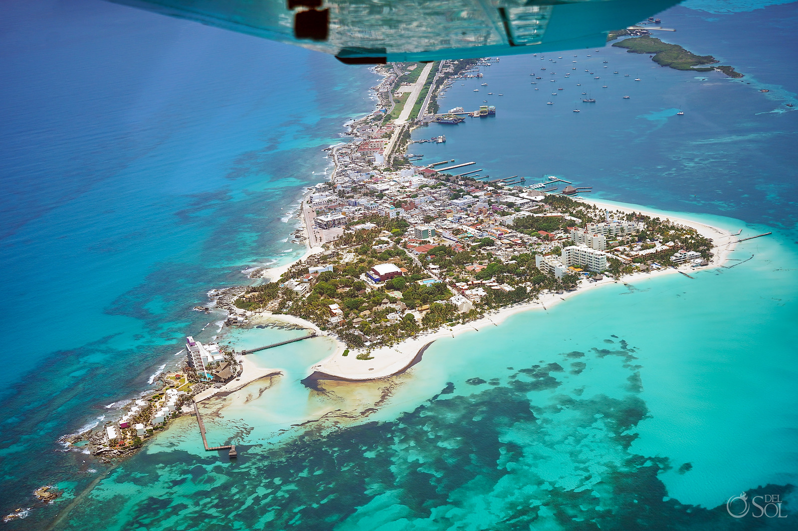 Isla Mujeres Cancun aerial photography tour without tourists
