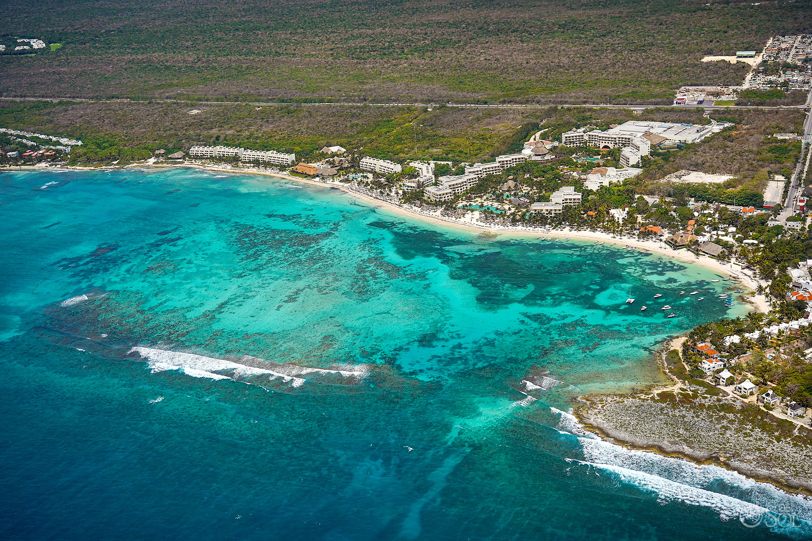 Akumal Bay Aerial Photography Quintana Roo - Covid 19