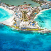 Aerial Photography Cancun Hotel Zone