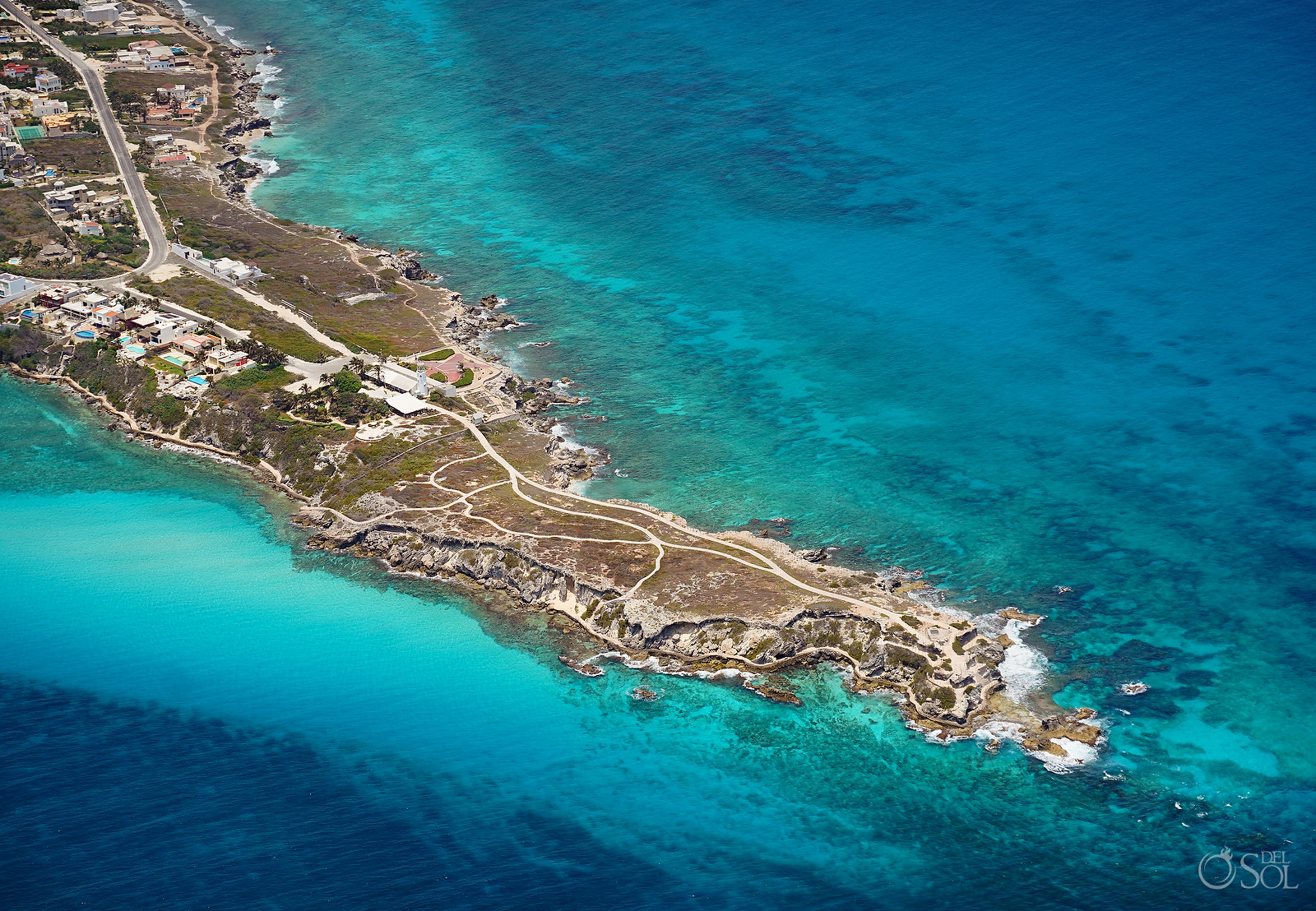 Aerial Photography of Punt Sur Isla Mujeres during 2020 quarantine