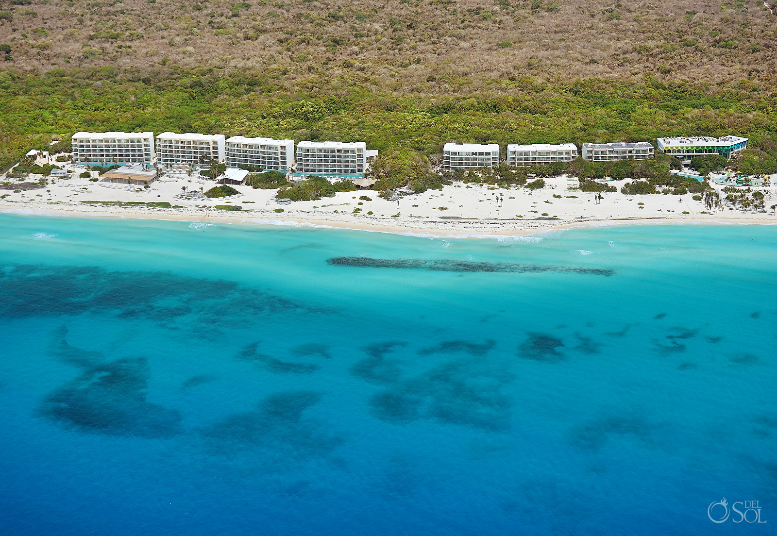 Cancun Area Aerial Photography Palmaia Hotel in Playa del Carmen