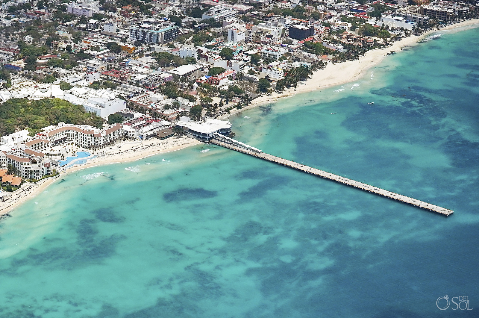 Playa del Carmen Aerial Photography without tourists