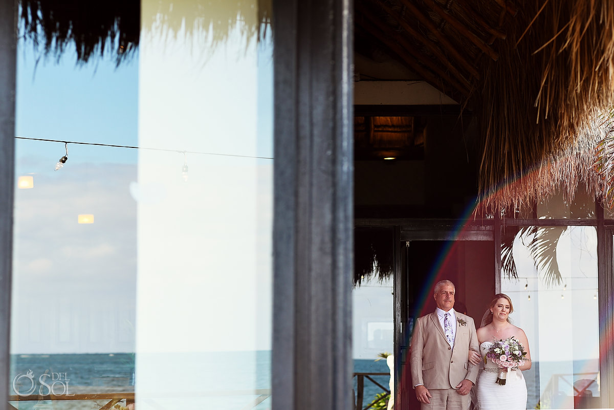 Bride entrance Now Sapphire Tequila Beach Wedding