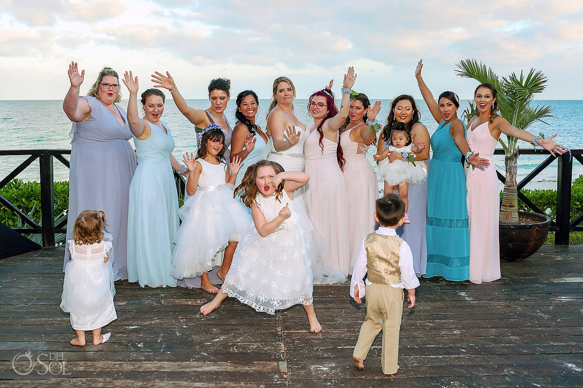 funny wedding photo formal photo chaos when kids attend weddings