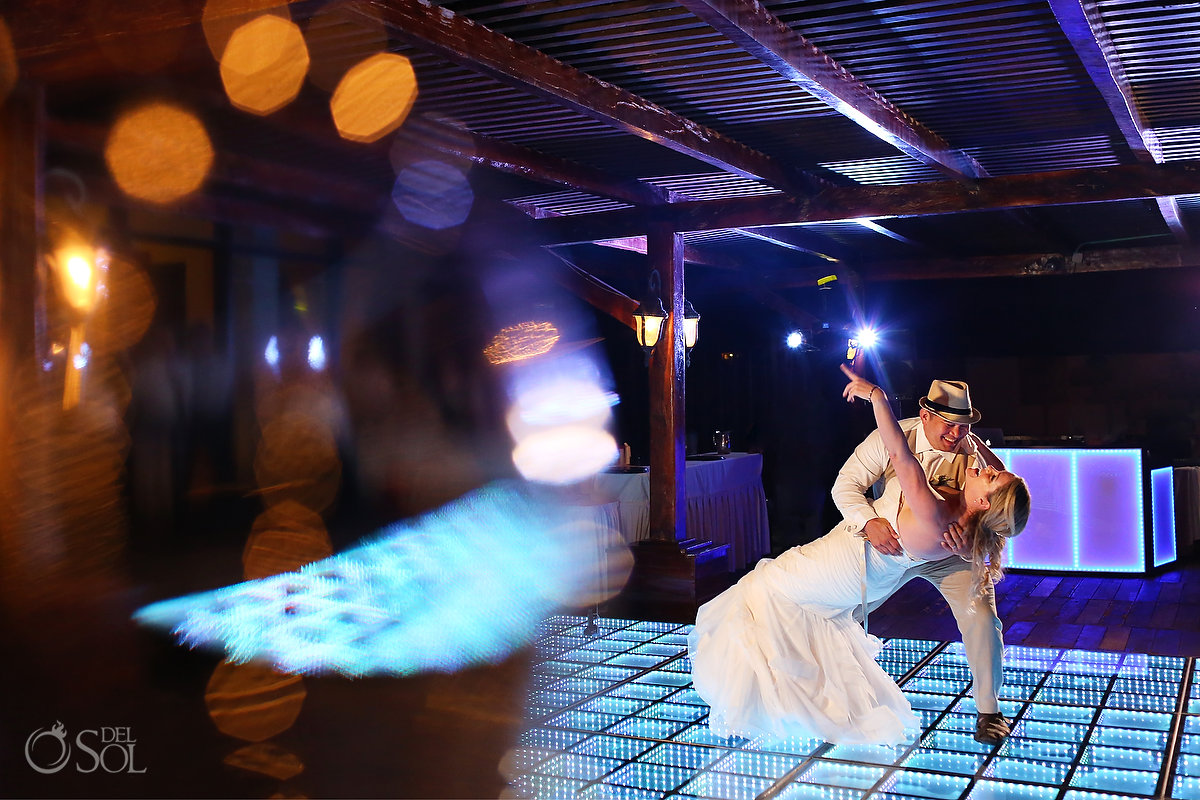Now Sapphire Tequila Terrace choreographed first dance groom dips bride