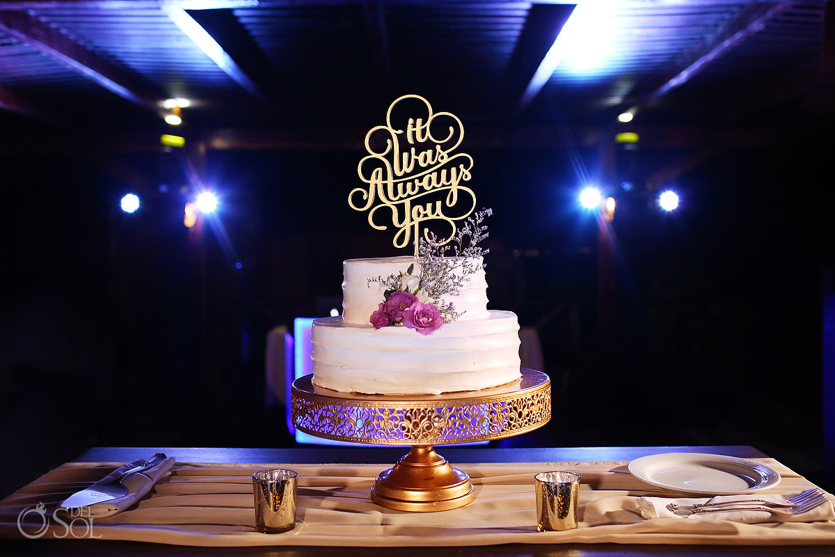 It was always you custom wedding cake topper