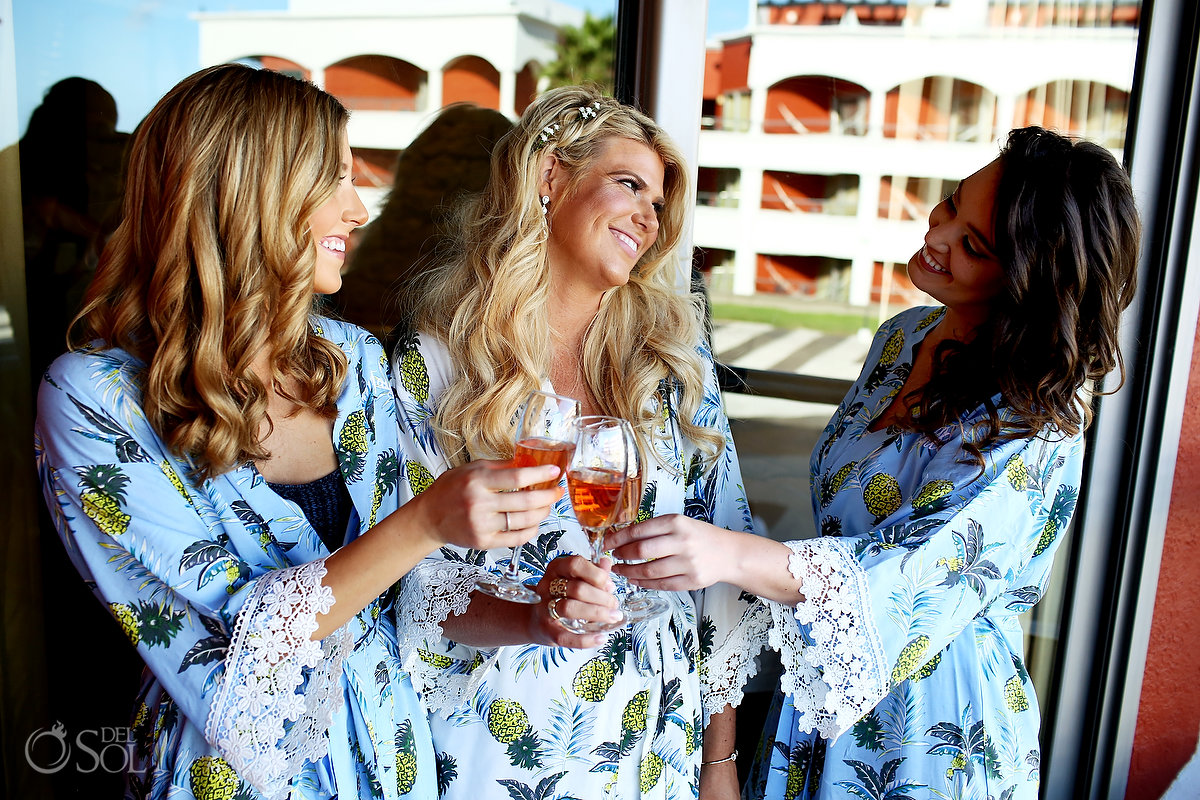 Bride and Bridesmaids getting ready Hard Rock Riviera Maya Hacienda