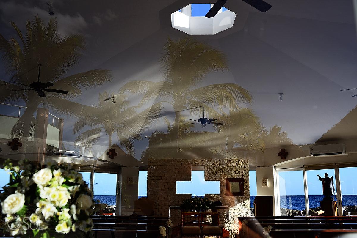 Hard Rock Catholic Wedding Venue Riviera Maya Mexico San Charbel Chapel