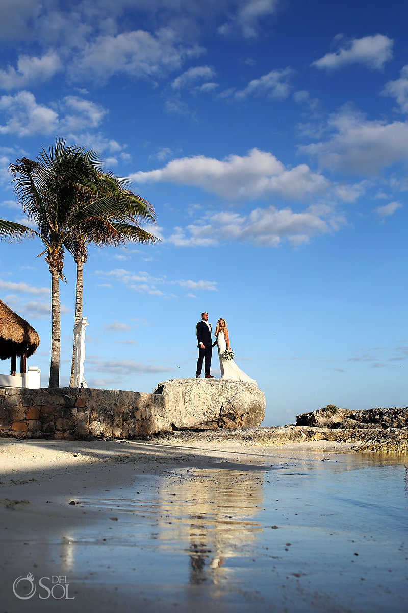 Hard Rock Catholic Wedding Riviera Maya San Charbel Chapel Couple portrait