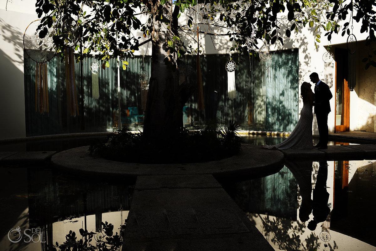 creative wedding portrait Secrets Akumal Spa Riviera Maya Mexico