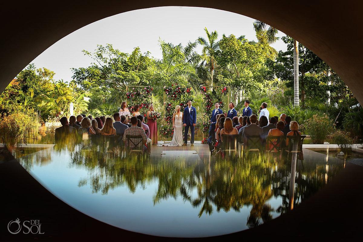 Unique wedding ceremony locations Secrets Akumal Arch Riviera Maya Mexico #travelforlove