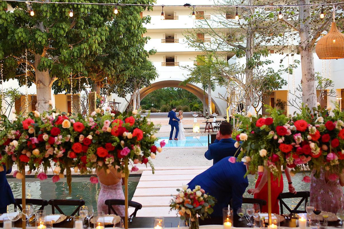 first dance Secrets Akumal Plaza wedding reception