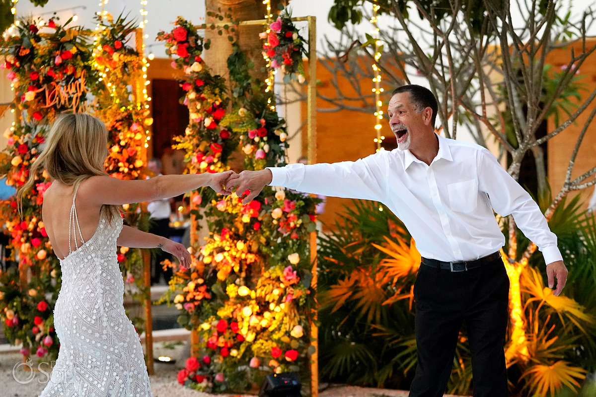 best father daughter dance Secrets Akumal Plaza wedding reception