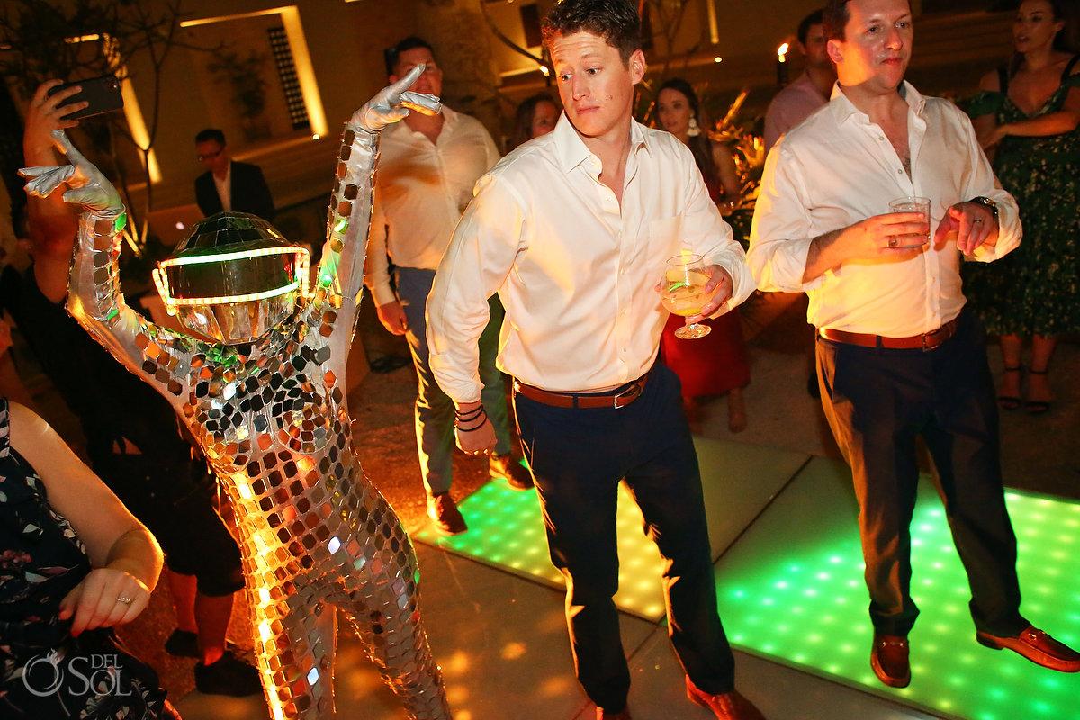wedding reception entertainment ideas mirror dancers Secrets Akumal
