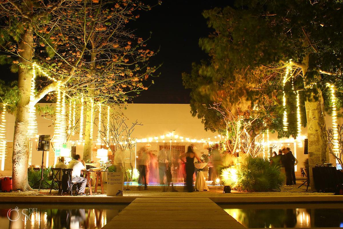 long exposure Secrets Akumal Plaza wedding reception